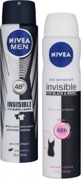 Nivea-Black-White-Invisible-Antiperspirant-Deodorant-250mL on sale
