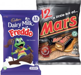 Cadbury-Sharepack-168g-180g-or-Mars-Medium-Funsize-144g-216g on sale