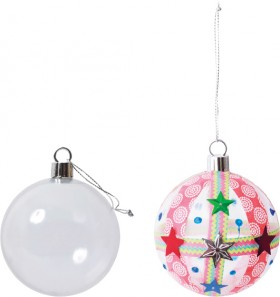 Plastic-Baubles on sale