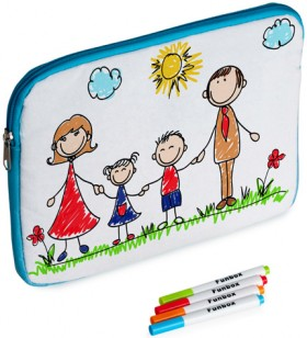 Funbox-Design-Your-Own-IPad-Bag-Colour-In-Activity-Kit on sale