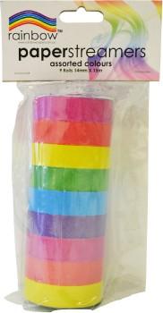 Rainbow-Paper-Streamers on sale