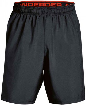 Under-Armour-Woven-Graphic-Training-Shorts-BlackRed on sale