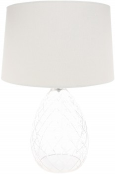 NEW-Heritage-Cut-Glass-Lamps-with-White-Linen-Shade on sale