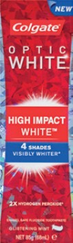 Colgate-Optic-White-High-Impact-Toothpaste-85g on sale