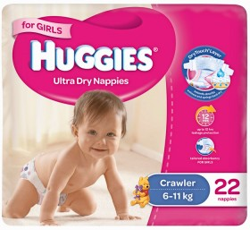 Huggies-Selected-Nappies-For-Girls on sale