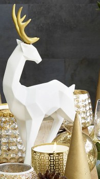 White-Gold-Reindeer on sale