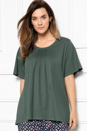 Sara-Short-Sleeve-Pintucked-Tee on sale