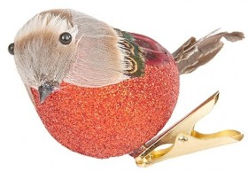 Harmony-Clip-On-Bird-Ornament-Red on sale