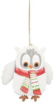 Harmony-Metal-Owl-Ornament-White on sale
