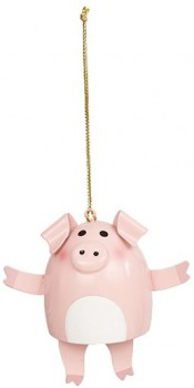 Harmony-Metal-Pig-Ornament-Pink on sale
