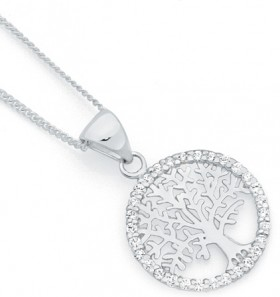 Sterling-Silver-CZ-Pendant on sale