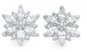Sterling-Silver-CZ-Earrings on sale