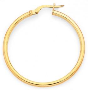 9ct-Gold-30mm-Gypsy-Hoop-Earrings on sale