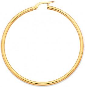 9ct-Gold-40mm-Gypsy-Hoop-Earrings on sale