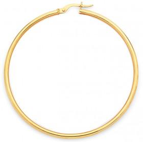 9ct-Gold-50mm-Gypsy-Hoop-Earrings on sale