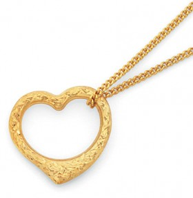 9ct-Gold-Heart-Pendant on sale