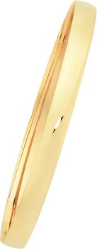 9ct-Gold-6x65mm-Solid-Half-Round-Bangle on sale