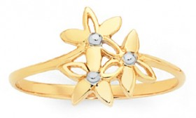 9ct-Gold-Two-Tone-Ring on sale