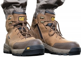 NEW-CAT-Device-Zip-Sided-Lace-Up-Waterproof-Safety-Boots on sale
