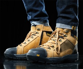 CAT-Convex-Breathable-Mesh-Zip-Sided-Lace-Up-Safety-Boots on sale