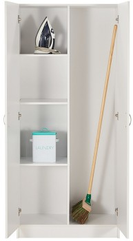 NEW-Reed-2-Door-Broom-Cupboard on sale