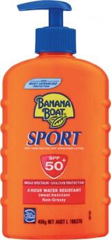 Banana-Boat-Sunscreen-SPF-50-Sport-400g on sale