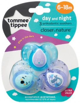 Tommee-Tippee-3-Pack-Soother-6-18m on sale
