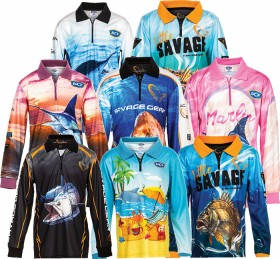BCF-Savage-Gear-Kids-Youth-Sublimated-Polos on sale