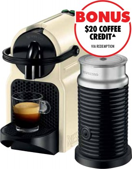 Nespresso-DeLonghi-Inissia-Capsule-Coffee-Machine-Cream on sale