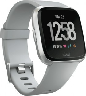 Fitbit-Versa-Aluminium-Smart-Watch-Grey-Silver on sale