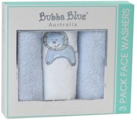 Bubba-Blue-Little-Safari-3pk-Face-Washers on sale