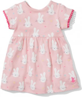Sprout-Dress-Pink-Bunny on sale