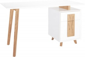 Corp-Co-Isaac-Single-Draw-Office-Desk-White on sale