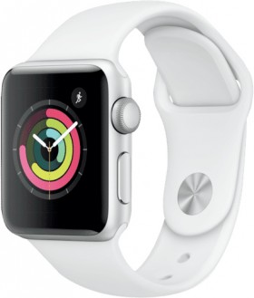 Apple-Watch-Series-3-GPS-38mm-Silver-Aluminium-Case-with-White-Band on sale