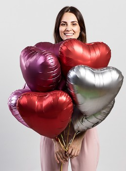 Foil-Satin-Luxe-Heart-Balloon on sale