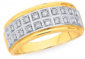 9ct-Gold-Diamond-Double-Row-Band on sale