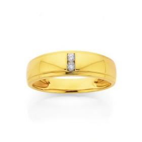 9ct-Gold-Diamond-Gents-Ring on sale