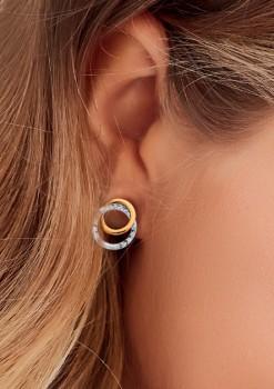 9ct-Gold-Diamond-Cut-Double-Circle-Stud-Earrings on sale