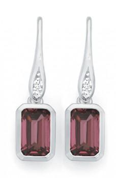 NEW-Sterling-Silver-Berry-Cubic-Zirconia-Earrings on sale