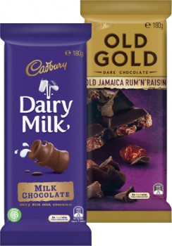 Cadbury-Family-Old-Gold-Dark-Milk-or-Marvellous-Creations-Block-Chocolate-150g-205g on sale
