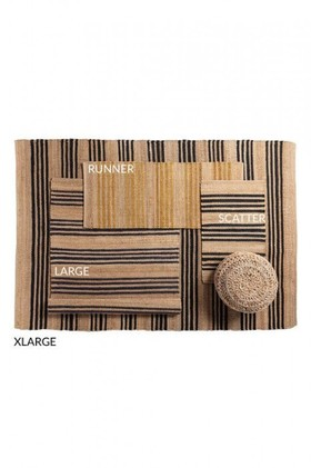 Stripe-Jute-Rug on sale
