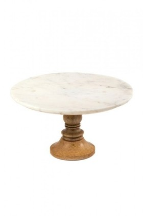 Round-Marble-and-Timber-Cake-Stand on sale