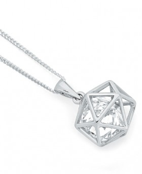 Sterling-Silver-Cubic-Zirconia-In-Prism-Cage-Pendant on sale