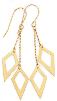 9ct-Gold-Double-Kite-Drop-Earrings on sale