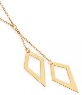 9ct-Gold-42cm-Lariat-Necklet on sale