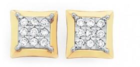 9ct-Gold-Diamond-Earrings on sale