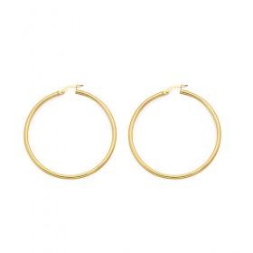9ct-Gold-2x40mm-Hoop-Earrings on sale