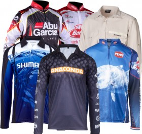 All-Fishing-Shirts-by-Shimano-Berkley-Ugly-Stik-Abu-Garcia-and-Penn on sale
