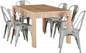 Havana-7-Piece-Dining-Set-with-Replica-Tolix-Chairs on sale