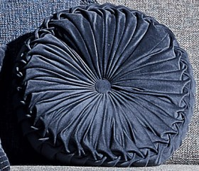 Broadway-40cm-Round-Cushion-in-Sapphire on sale